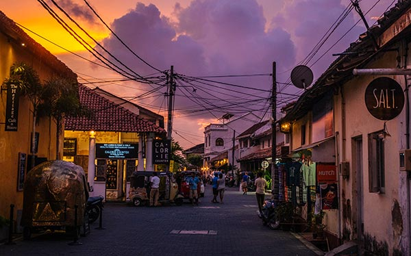 Galle's sea-side town